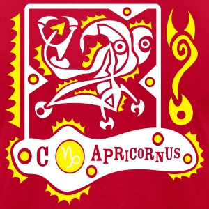 Red Capricornus-Capricorn-Zodiac-Sign Men - Men's T-Shirt by American Apparel