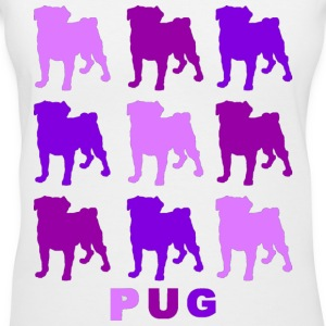 Purple Pugs - Women's V-Neck T-Shirt