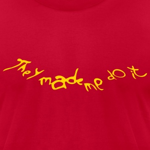 donnie darko - they made me do it - Men's T-Shirt by American Apparel