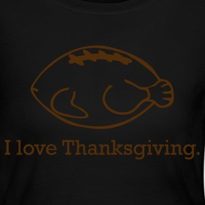 Thanksgiving Turkey & Football - Women's Long Sleeve Jersey T-Shirt