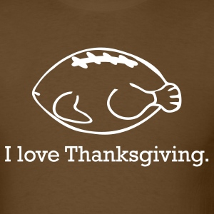 Thanksgiving Turkey & Football - Men's T-Shirt