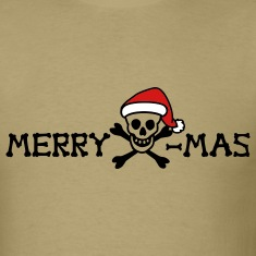 Khaki merry xmas skull color Men