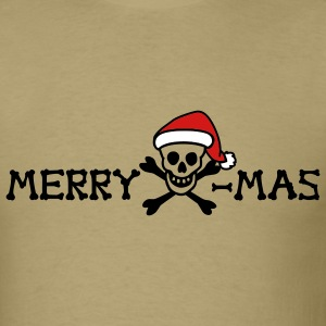 Khaki merry xmas skull color Men - Men's T-Shirt