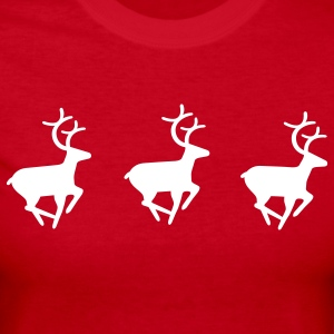 Three Reindeer - Women's Long Sleeve Jersey T-Shirt