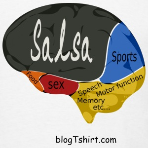 Salsa Brain - Men's T-Shirt