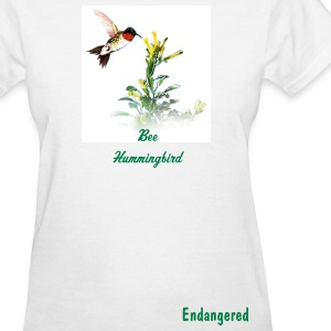 White Bee Hummingbird Women - Women's T-Shirt