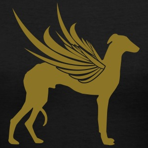 Black Winged Sighthound Women - Women's V-Neck T-Shirt