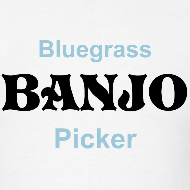 Bluegrass Banjo Picker White