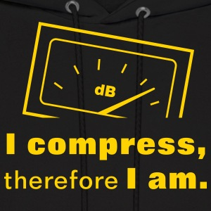 I Compress, therefore I am. Hoodies - Men's Hoodie