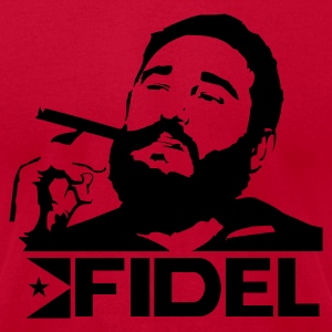 Red Fidel Castro - Cuba - Revolution Men - Men's T-Shirt by American Apparel
