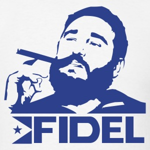 White Fidel Castro - Cuba - Revolution Men - Men's T-Shirt