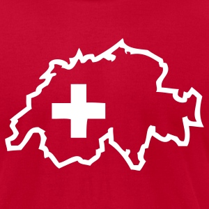 Red Switzerland - Swiss Cross Men - Men's T-Shirt by American Apparel