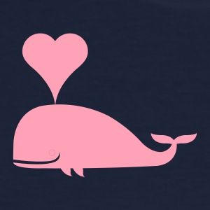 Navy Lovely Whale Women - Women's T-Shirt
