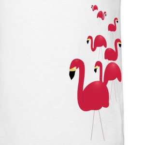 White Pink Flamingos Men - Men's T-Shirt