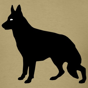 Khaki German Shepherd Men - Men's T-Shirt