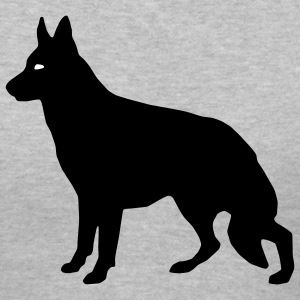 Gray German Shepherd Women - Women's V-Neck T-Shirt