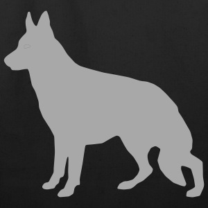Black German Shepherd Accessories - Eco-Friendly Cotton Tote