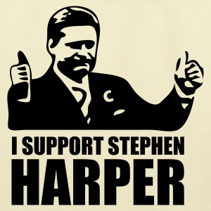 Creme I Support Stephen Harper Bags  - Eco-Friendly Cotton Tote