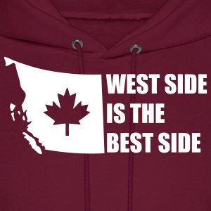 Burgundy West Side is the Best Side Hoodies - Men's Hoodie