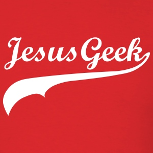 Red Jesus Geek (Script) Men - Men's T-Shirt