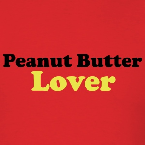 Red Peanut Butter Lover (Text) Men - Men's T-Shirt