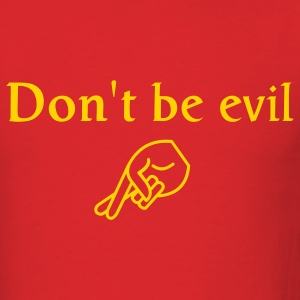 Red don't be evil Men - Men's T-Shirt
