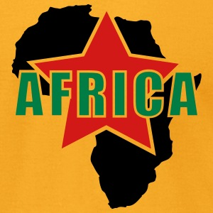 Gold Africa Red Star Men - Men's T-Shirt by American Apparel