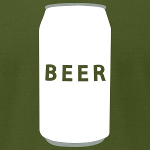 Olive Generic Beer Can Men - Men's T-Shirt by American Apparel