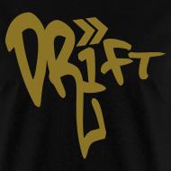 Design ~ Drift Street Pop Gold Black T-Shirt
