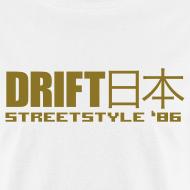 Design ~ Drift Japan StreetStyle '86 White T-Shirt