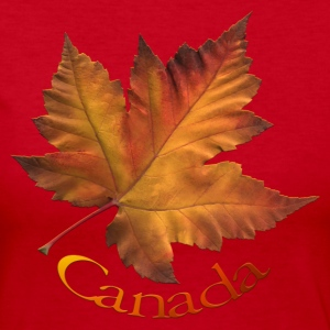 Canada Shirt Lady's Autumn Maple Leaf Canada Shirt - Women's Long Sleeve Jersey T-Shirt