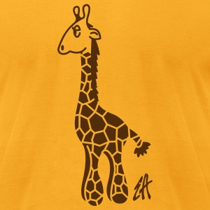 Rocky giraffe - Men's T-Shirt by American Apparel