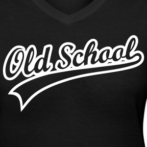 ::OLD SCHOOL:: - Women's V-Neck T-Shirt
