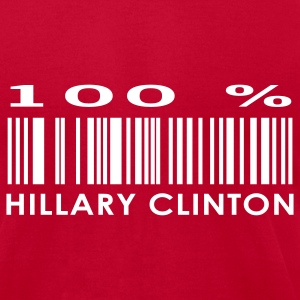 Red Hillary Clinton Men - Men's T-Shirt by American Apparel