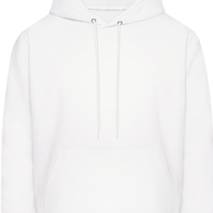 White I love - heart - couple - valentine Men - Men's Hoodie