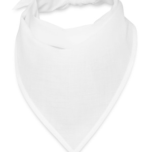 White I love - heart - couple - valentine Men - Bandana