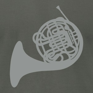Asphalt French Horn T-Shirts - Men's T-Shirt by American Apparel