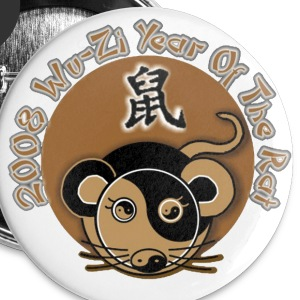 2008 Year Of The Rat - Small Buttons