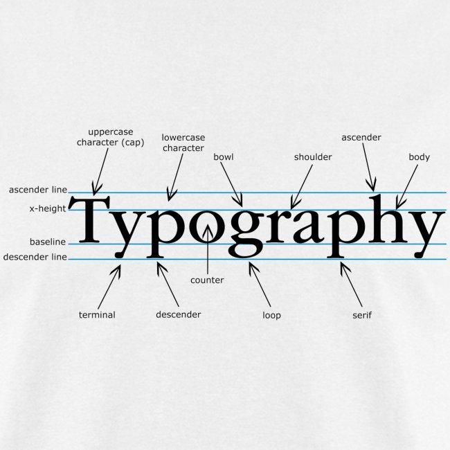Spoken Visuals Apparel Anatomy Of Type Mens T Shirt