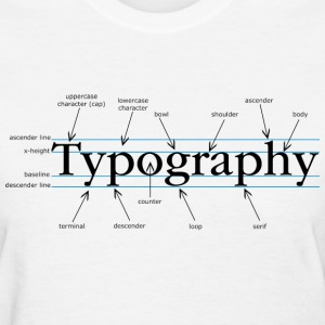 White Typography chart Women - Women's T-Shirt