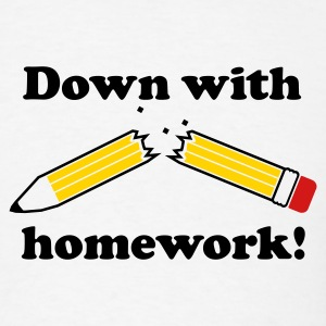 White down with homework! Men - Men's T-Shirt
