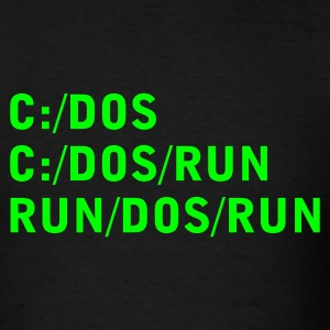 Black C DOS RUN Men - Men's T-Shirt
