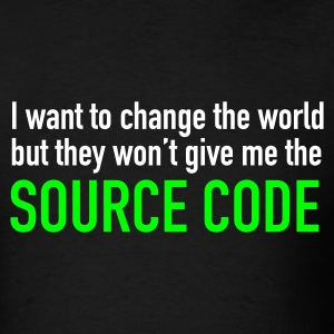Black World Source Code Men - Men's T-Shirt