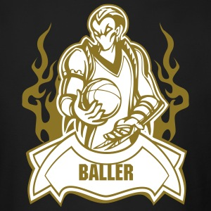 The Baller (Monogrammed) - Men's Fitted Long Sleeve Tee - Men's Long Sleeve T-Shirt by Next Level
