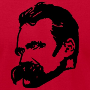 Red Friedrich Nietzsche Men - Men's T-Shirt by American Apparel