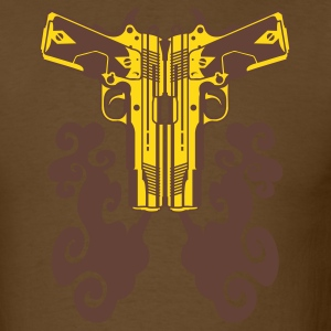 Brown Dual .45 Bullhead Men - Men's T-Shirt