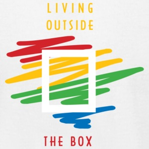 Living Outside the Box - Men's T-Shirt by American Apparel