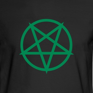 Black pentagram Men - Men's Long Sleeve T-Shirt