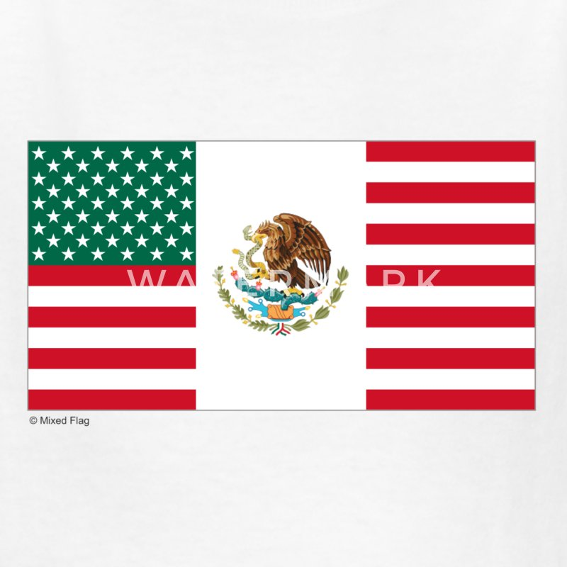 White Mexico USA Kids Shirts - Kids' T-Shirt