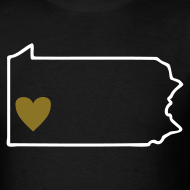 Design ~ Pittsburgh Love Men's T-shirt